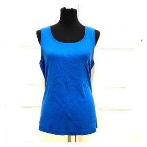 🔥3/$20🔥 Chico's Size 3 (XL 16) Blue Tank Top